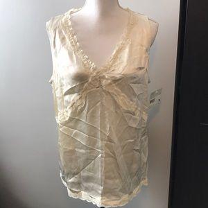 Liz Claiborne Cream Silk sleeveless tank 16